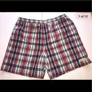 Chaps Red & Blue Plaid Lined Swimsuit Size XXL
